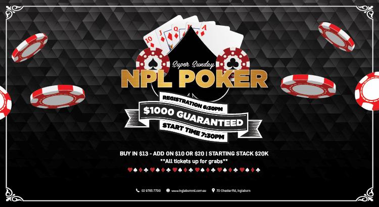 Ingleburn RSL | Whats On | Poker