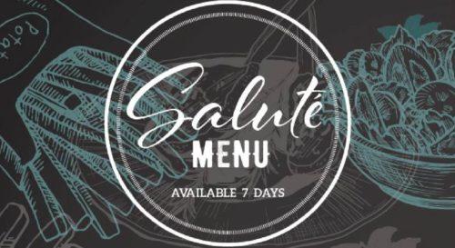 salute menu new at Ingleburn RSL Club