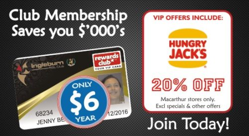 Ingleburn RSL | Membership | Rewards Card Hungry Jacks