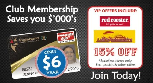 Ingleburn RSL | Membership | Rewards Card Red Rooster